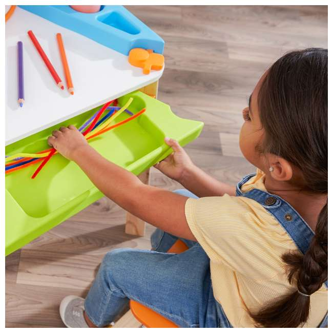 10091 Kidcraft 10091 Ultimate Creation Station Kids Activity Art Table with Two Stools 6