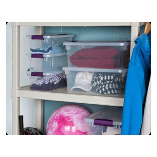 36 x 17511712-U-A  Sterilite 6-Qt ClearView Latch Box Storage Tote Container (Open Box) (36 Pack) 3