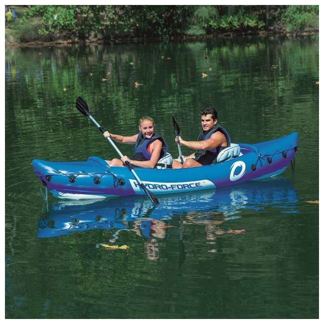 "65077E-BW-U-A Bestway 126 x 35"" Lite-Rapid X2 Inflatable Kayak w/ Oars (Open Box) (2 Pack) 7"
