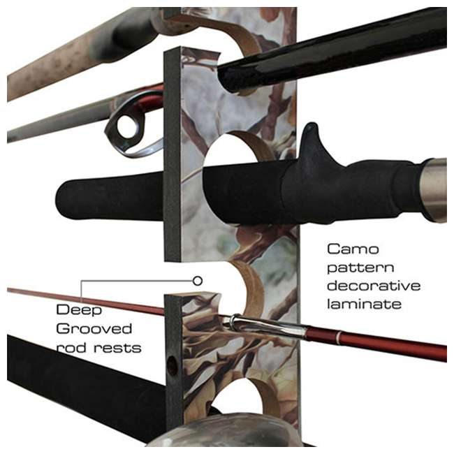 38-3024 Rush Creek Creations 38-3024 Camo 2 Piece 11 Pole Wall and Ceiling Rod Rack 1