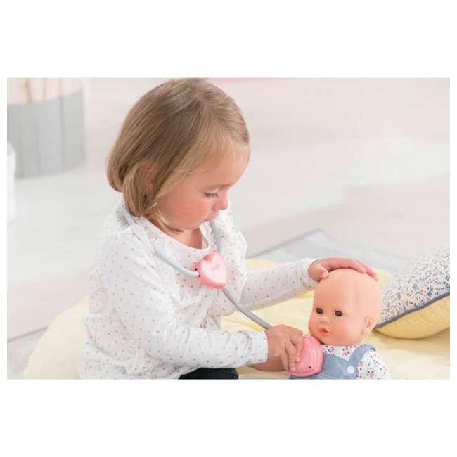 FRV09 + 100130 Corolle Mon Grand Poupon Toy Pediatrician Doctor Set w/ Waterproof Baby Doll 9