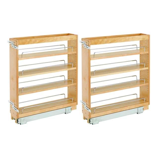448-BC-5C-28 Rev A Shelf 5 Inch Wood Base Kitchen Cabinet Organizer, Maple (2 Pack)