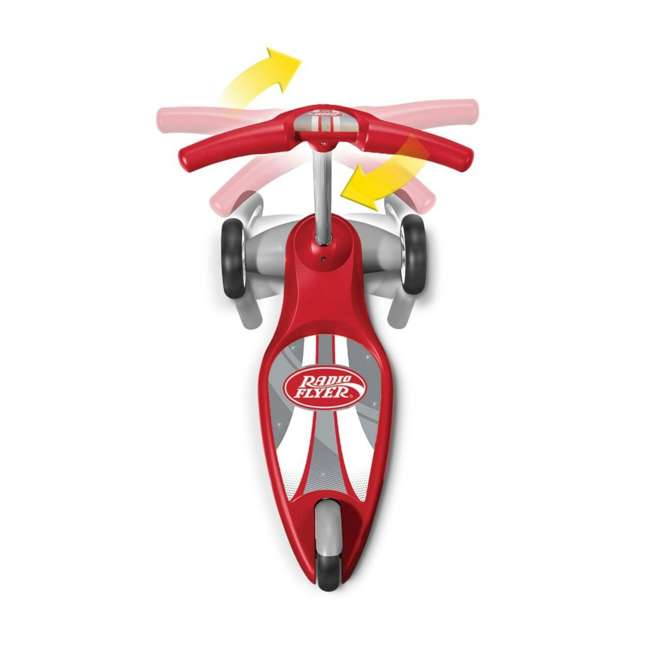 539S Radio Flyer 539S My 1st Scooter Stable 3 Wheeled Sport Ages 2+ Kid Scooter, Red 4