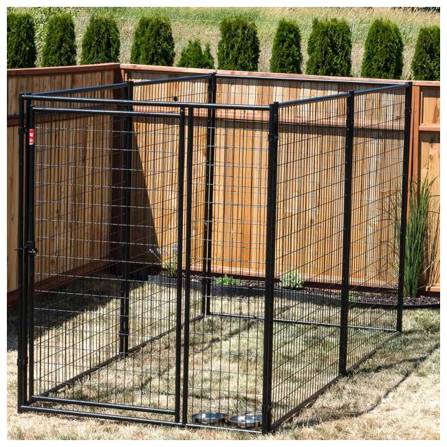 CL 66150 Lucky Dog Large Modular Welded Wire Box Indoor/Outdoor Kennel 10'x5'x6' (2 Pack) 7