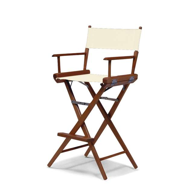 159320C01 Telescope Casual World Famous Walnut Directors Chair, Natural