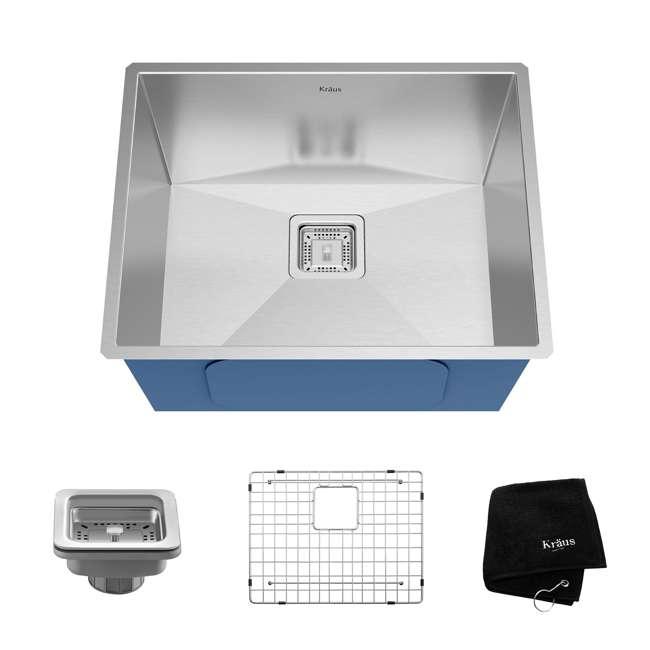 KHU23 Kraus Pax 22.5-Inch Rectangular Undermount Kitchen Sink (2 Pack) 1
