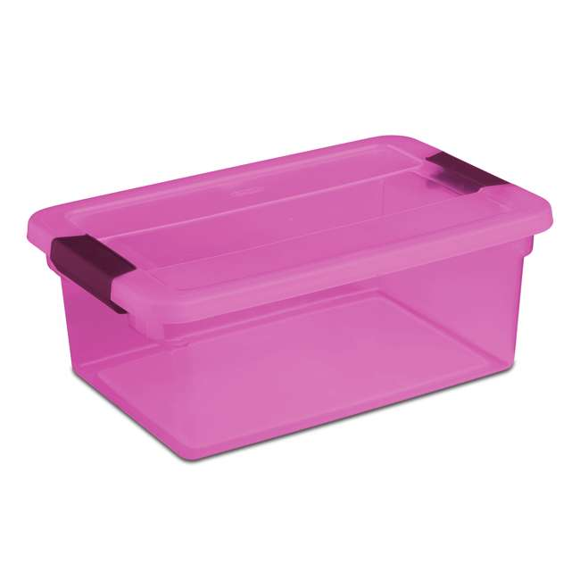 36 x 17535412 Sterilite ClearView Latch 15 Quart Plastic Storage Container, Purple (36 Pack)