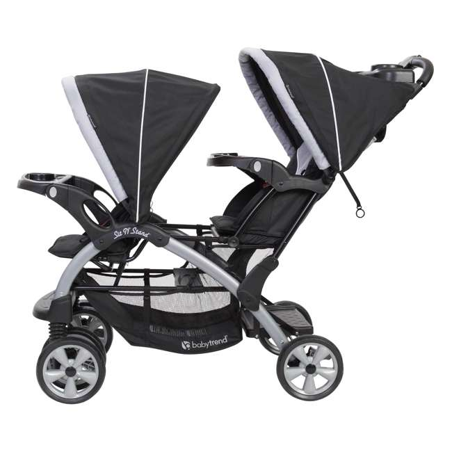 SS76B51A Baby Trend Sit N Stand Infant and Toddler Double Stroller 2