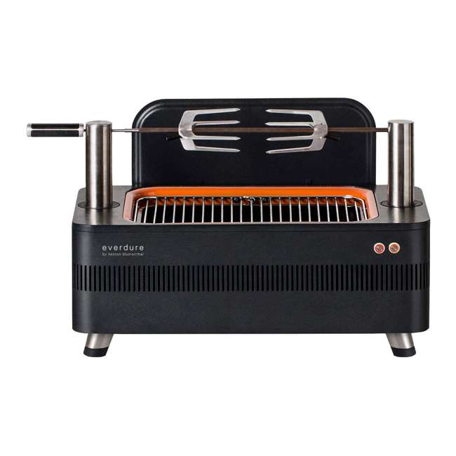 HBCE1BSUS OMA-Everdure Fusion Charcoal Grill with Pedestal and Rotisserie (HBCE1BSUS), 28.75-Inches