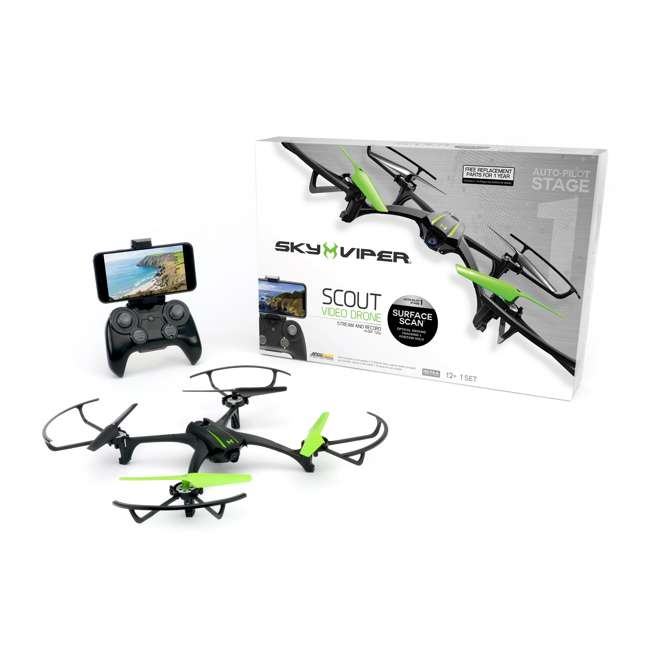 SKY-01848 + 2 x SKY-01846 Sky Viper Scout Live Streaming Video Drone & 2 Batteries 3