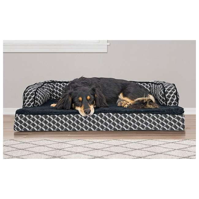 46536257BX Furhaven 46536257BX Jumbo Plush Faux Fur Orthopedic Sofa Pet Bed, Diamond Gray 5