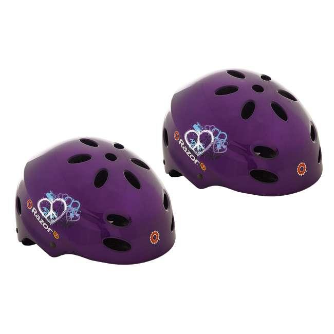 97945 Razor V-17 Child Helmet, Gloss Purple (2 Pack)