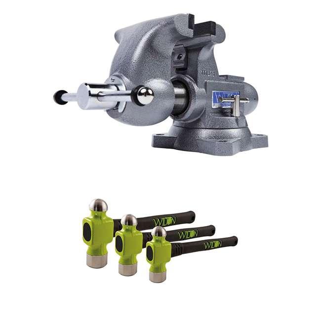 JPW-28807 + JPW-11110 Wilton Tradesman 1765 Bench Vise w/ 3 Piece Hammer Kit
