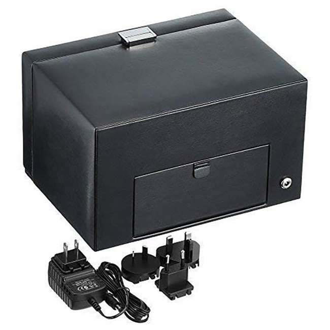 270102 WOLF 270102 Heritage Compact Electric Double Watch Winder Case with Cover, Black 3