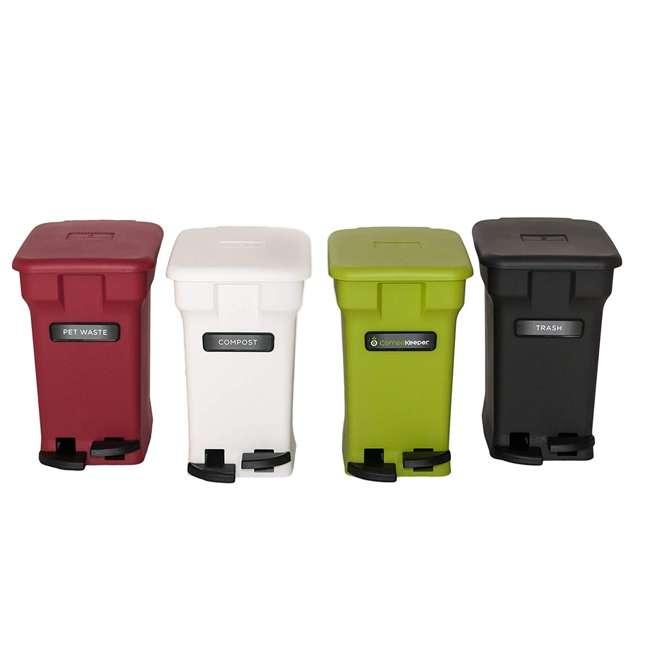 CK-6GL-BIN-WH-S CompoKeeper Kitchen 6 Gallon Compost Organic Waste Kitchen Bin Trash Can, White 3