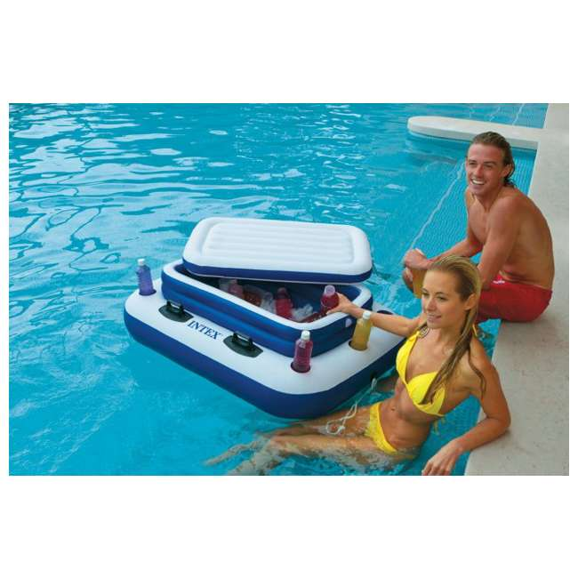 6 x 58821EP-U-A INTEX Mega Chill II Inflatable Floating Beverage Cooler  |   (Open Box) (6 Pack) 2