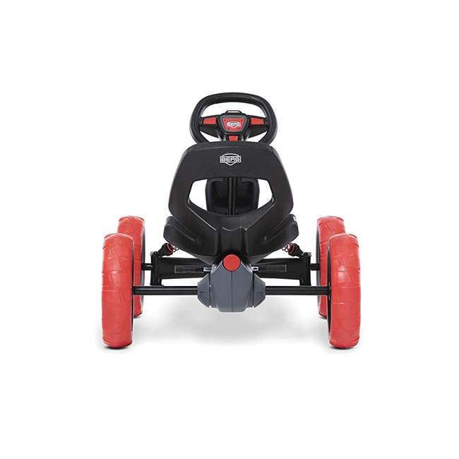24.60.02.00 BERG Reppy Rebel Kids Pedal Go Kart Ride On Toy w/ Axle Steering, Red and Gray 2