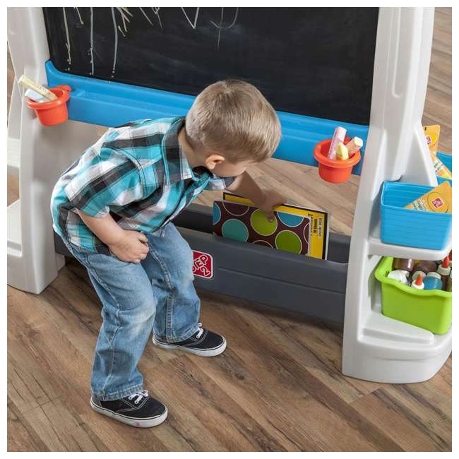 868500-U-A Step2 Jumbo Oversized Whiteboard and Chalkboard Art Easel for Kids (Open Box) 3