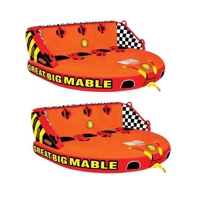 53-2218 Sportsstuff Big Mable Quadruple Rider Towable Tube (2 Pack)