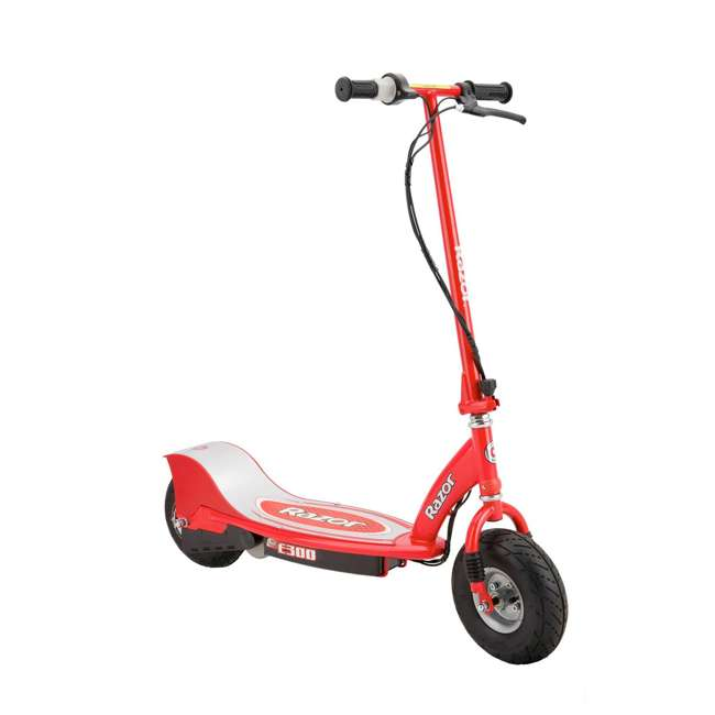 13113697 + 13113640 Razor E300 Electric Motorized Scooters, 1 Red & 1 Blue 1