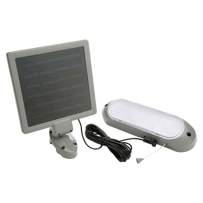 L949-U-A Designers Edge 10 LED Rechargeable Solar Panel Shed Light w/ 2 Modes (Open Box)