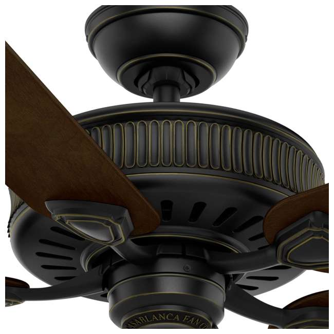 54002 Casablanca Ainsworth 54 Inch Indoor Ceiling Fan with Pull Chain, Basque Black 6