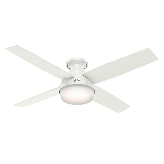 59242 Hunter Fan Company 59242 Dempsey 52 Inch Low Profile Ceiling Fan and Remote, Oak