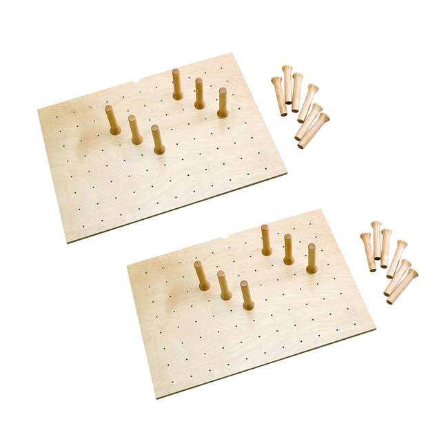 4DPS-3021 Rev-A-Shelf 12 Peg Board System for 30 x 21 Inch Drawers, Natural Maple (2 Pack)