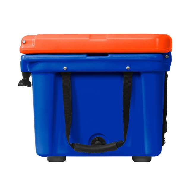 ORCBL/OR026 Orca Roto Molded 26 Quart 24 Can Insulated Ice Chest Cooler, Blue and Orange 3