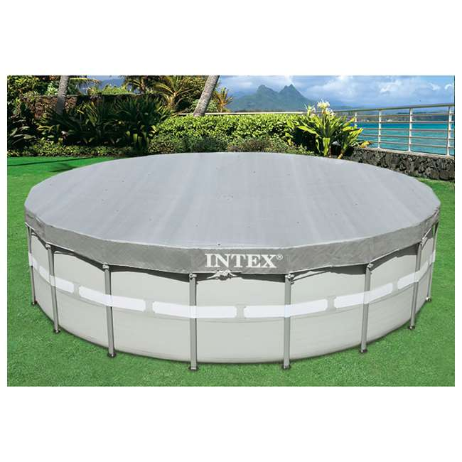3 x 28041E-U-A Intex  Deluxe Pool Cover for 18-Foot Intex Ultra Frame Pool  (Open Box) (3 Pack) 2
