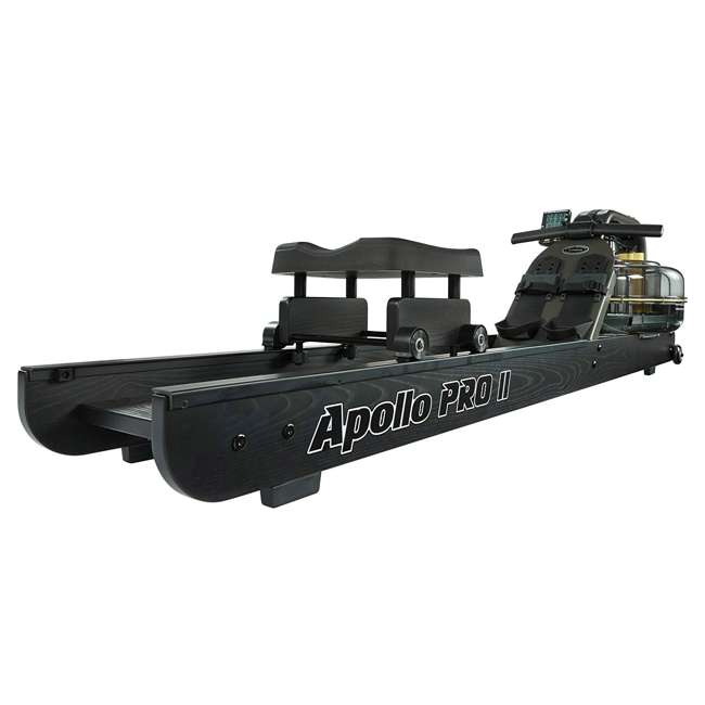 APPRO2B First Degree Fitness Indoor Water Rower with Adjustable Resistance - Apollo Pro II Black Reserve 1