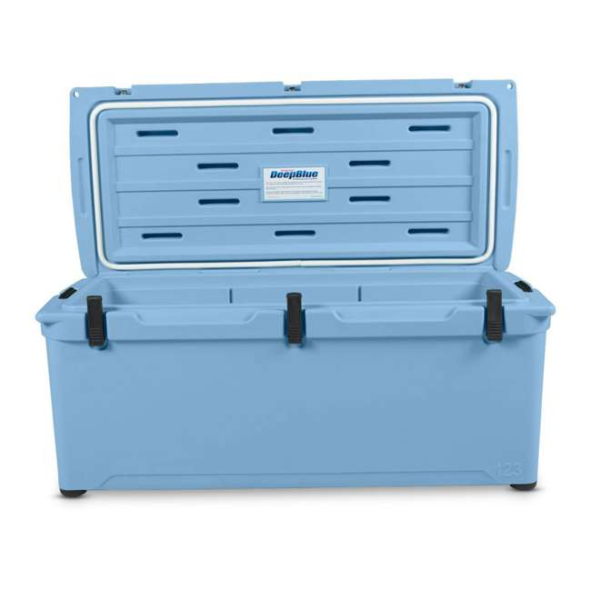 ENG123-B-U-B Engel 123 High Performance 27 Gal Roto Molded 130 Can Cooler, Arctic Blue (Used) 2