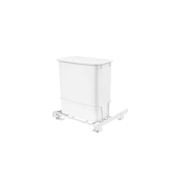 RV-814PB-U-A Rev A Shelf 20 Quart Undermount Pullout Waste Container, White(Open Box)(2 Pack)