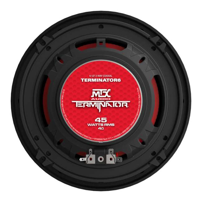 TERMINATOR6 MTX 45-watt 2-Way Polypropylene Coaxial Car Speakers, Pair 3