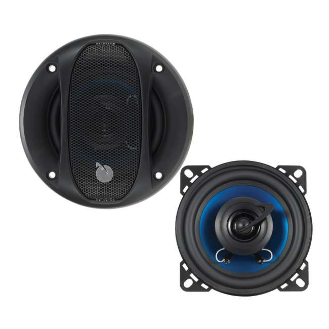 """AC42 Planet Audio AC42 4"""" 150W 2 Way Car Coaxial Speakers 4 Ohm -Blue (Pair)"""