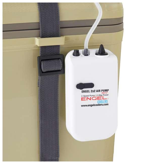 ENGLBC19-N-TAN Engel 19-Quart Hard-Sided Live Bait Fishing Dry Box Cooler, Tan 4