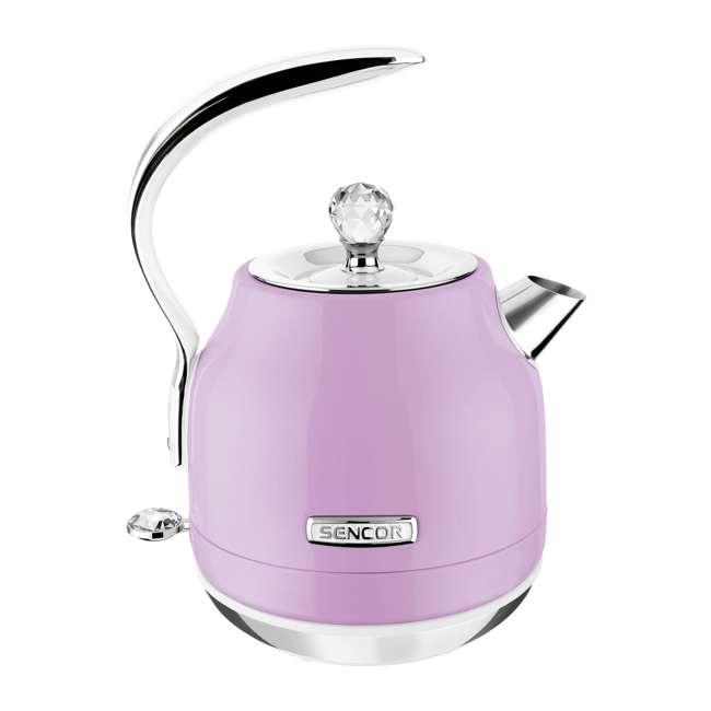 SWK45VT-NAB1 Sencor SWK45VT 1.2L Crystal Electric Kettle & Hot Water Tea Pot, Light Purple 1