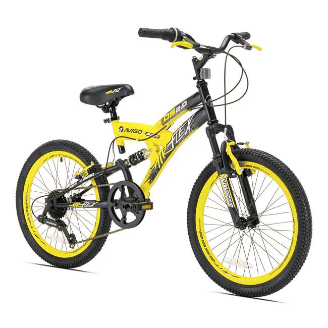 42084 + 522RR-R + 97778 Kent Bikes Avigo Air Flex Steel 20 Inch Boys BMX Bike & 2 Bike Car Rack & Helmet 2