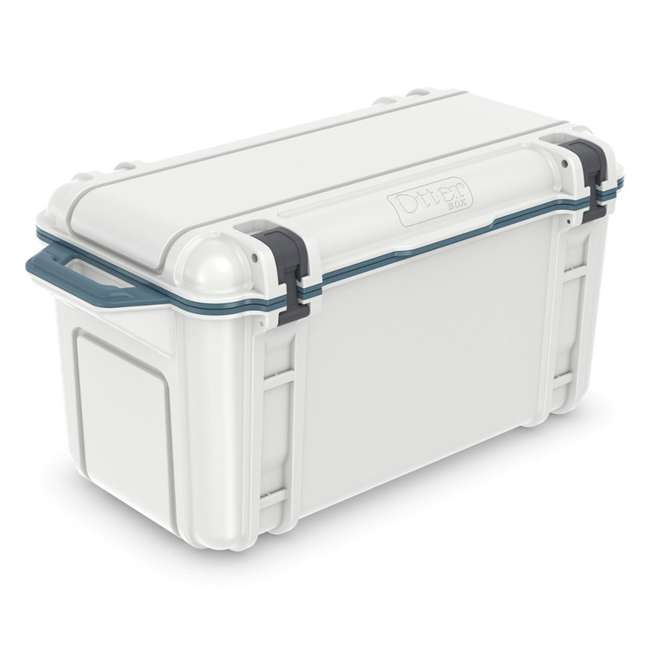77-54868 Otterbox Venture Heavy Duty Outdoor Camping Fishing Cooler 65-Quarts, White/Blue 1