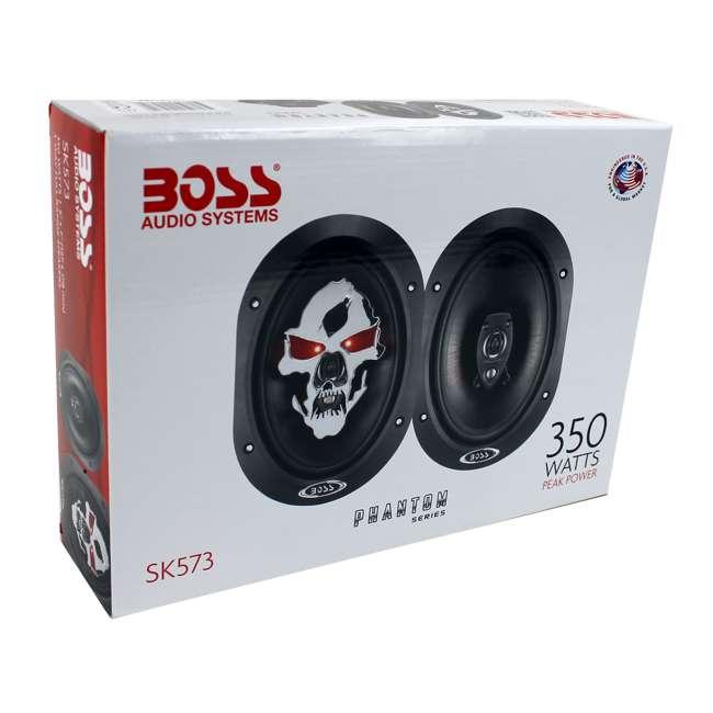 """SK573 Boss SK573 5x7"""" 350W 3 Way Car Audio Coaxial Speakers (Pair) 5"""