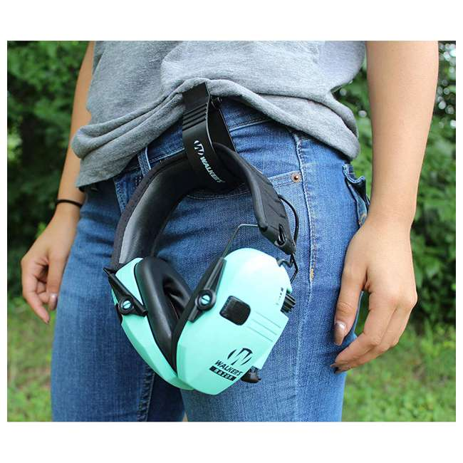 GWP-RSEM-LTL Walker's Razor Slim Hearing Protection Earmuff, Teal  2