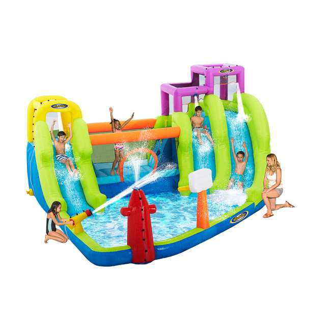 MTI-90717 RipTide Triple Fun Inflatable PVC Water Park with 3 Slides & Obstacle Course 1