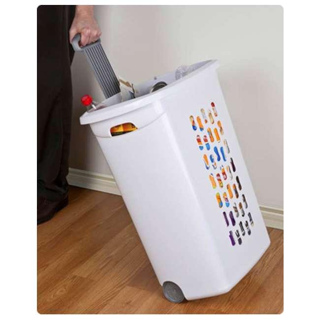 12228003-U-A Sterilite 12228003 Portable Wheeled Laundry Hamper-Open Box                2