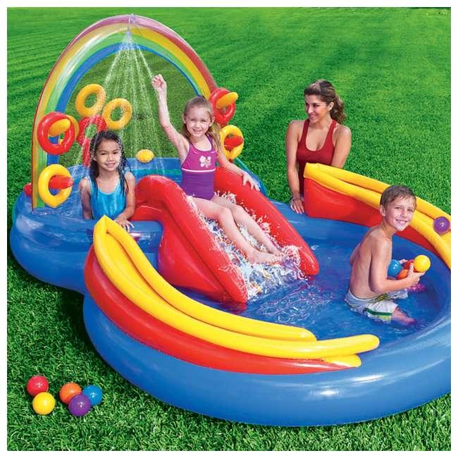 57454EP + 2 x 57453EP Intex Inflatable Ocean Kiddie Pool (2 Pack) & Intex Rainbow Ring Pool (2 Pack) 11