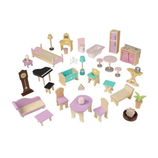 KDK-65954-U-A KidKraft Grand View Mansion Children's Dollhouse w/ EZ Kraft Assembly (Open Box) 1