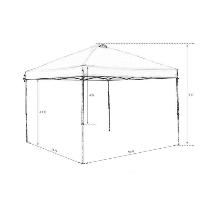 APFGA1010DG Abba Patio 10 x 10' Outdoor Pop Up Canopy, Dark Gray 1