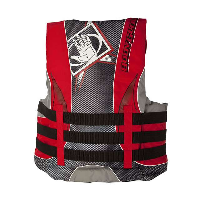 12252-L-BLKRED Body Glove Torque 2 Mens Adult Large Nylon 4 Belt PFD Life Jacket, Red/Black 1