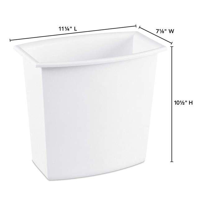 12 x 10220012  Sterilite 10220012 2-Gallon Rectangular Vanity Wastebasket, Black/White (12 Pack) 1