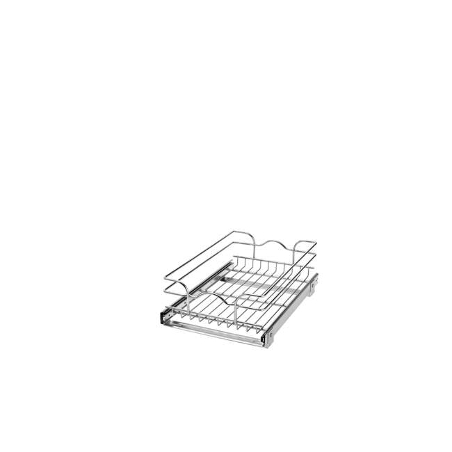 5WB1-1218-CR Rev-A-Shelf 5WB1-1218-CR 12 Inch Chrome Single Wire Basket Cabinet Organizer