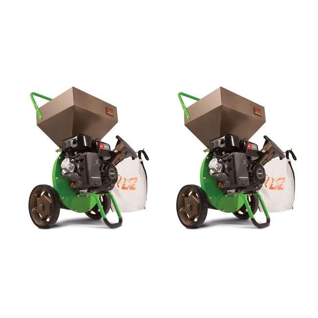 EARTH-30520 Earthquake Tazz Viper 212cc Gas Wood Chipper Shredder Mulch Bag, Green (2 Pack)